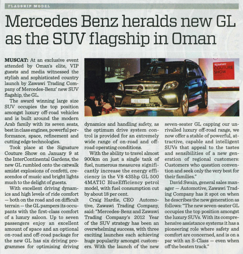 GL Launch PRL, Times of Oman, 22 Jan 2013