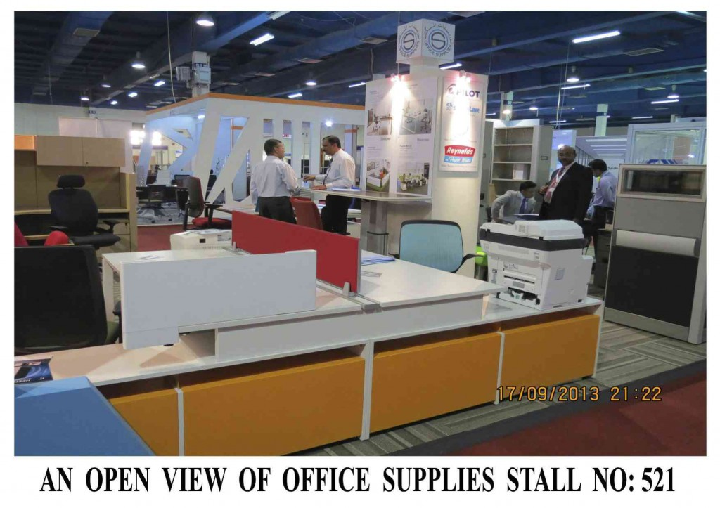 An Open View of Office Supplies Stall # 521